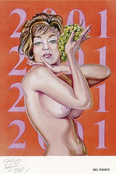 Grape Queen, 2001, Sticker, 10,1 x 15,2 cm, signiert und nummeriert vom Künstler
